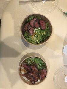 ランチにて牛ハラミ丼の紹介